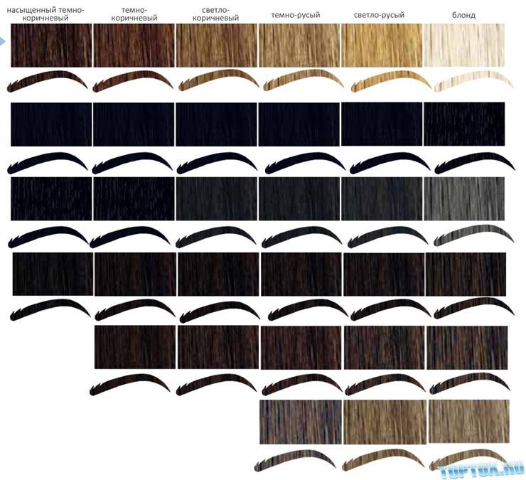 красках для бровей